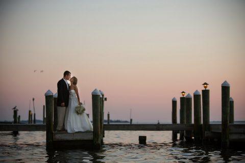 19 Couple on Dock Root Weddings