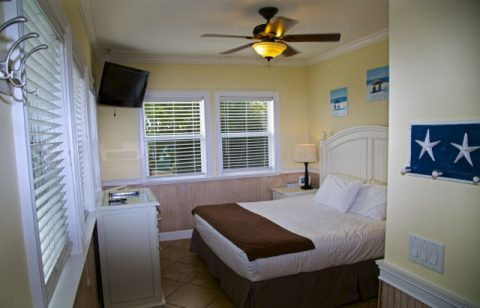 Boat House Cottage bedroom: king bed