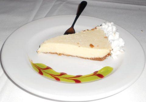 Tarpon Lodge serves a classic Key lime pie with graham cracker crust.