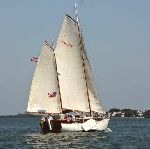 The classically elegant Alondra designed by renowned naval architect L. Francis Herreshoff