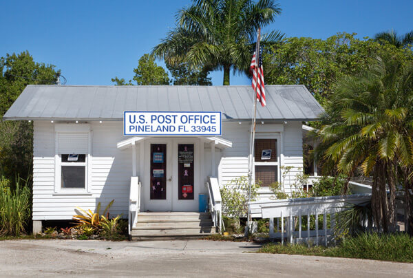 The old Pineland Florida post office