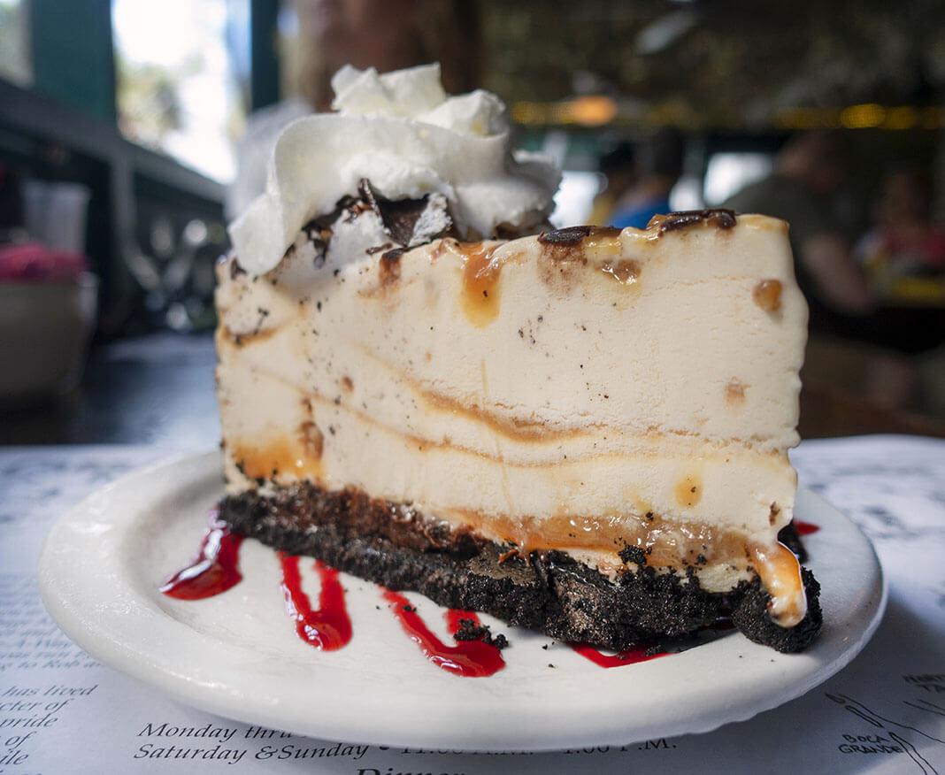 Caramel Turtle Fudge Ice Cream Pie at Cabbabe Key